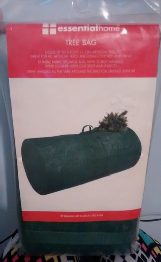 Artificial Christmas Tree Bag for storage after holidays.