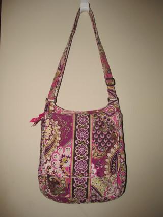 Vera Bradley 'Very Berry Paisley' Mailbag Shoulder Bag