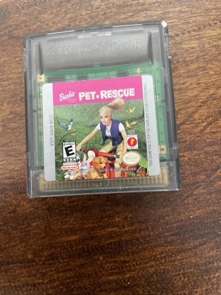 Vintage Nintendo Gameboy Barbie Pet Rescue Game
