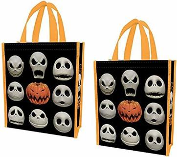 NEW Nightmare Before Christmas Large Reusable Shopping Bag Shopper Tote (Set of 2) FREE SHIPPING