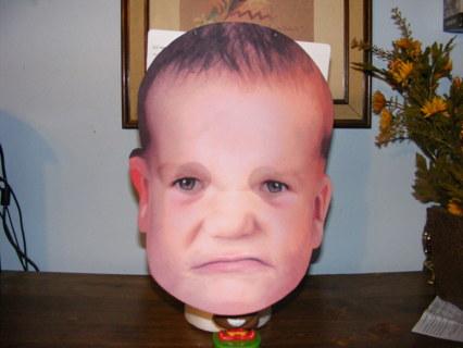 Big Mad Baby Halloween Mask