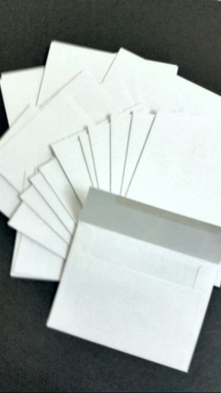 Thirty Printmaster Bright White Printable Envelopes, Announcement and Invitation Sized