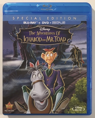 Disney The Adventures Of Ichabod And Mr. Toad Special Edition Blu-ray / DVD Movie - Case + MT Discs