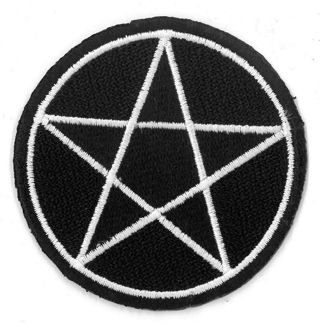 NEW Pentacle Pentagram Star IRON ON Patch Clothing Embroidery Applique Wicca Adjacent FREE SHIPPING