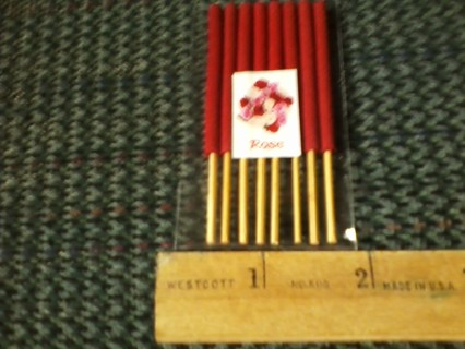 "8pk Rose incense 8""shortsticks free shipping"
