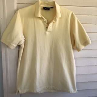 Men's size M Medium yellow short sleeve polo shirt top