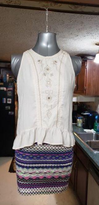 Forever 21 skirt, exhilaration top, L