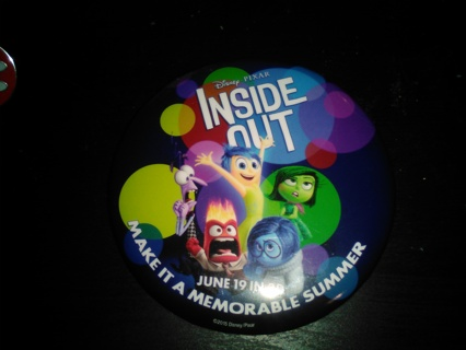 Disney Inside Out Promotional Button