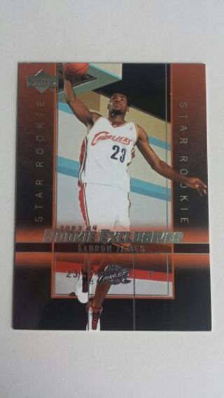 LeBron James 2004 Upper Deck Rookie Exclusives Star Rookie Card