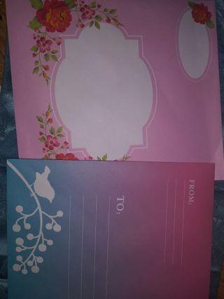 2 decorative enevelopes