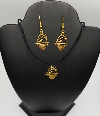 Pretty New Spring Birds Nest Earrings Necklace Set