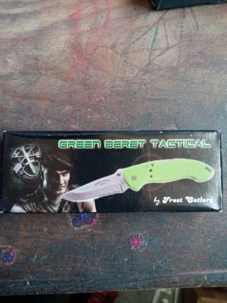 Green Beret Tactical Knife New in Box