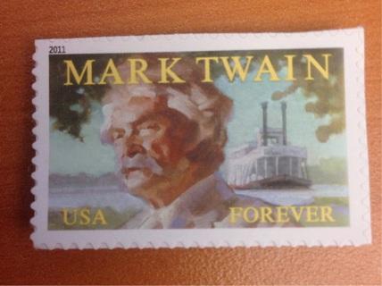 Mark Twain Forever Stamp self adhesive 2011 uncirculated