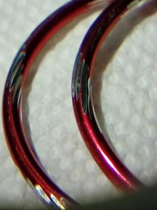 Retro  1970 style, Red Hoop  Earrings