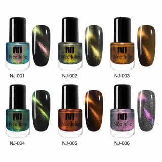 NEE JOLIE 3.5ml Matte Nail Polish Pure Color Purple Green Black Nail Art Varnish