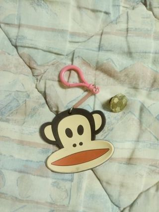 Paul frank keychain & a gold plated soccer pin