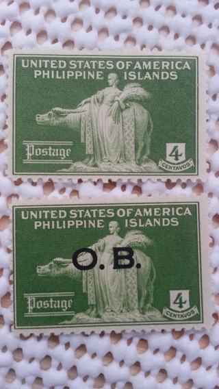 Philippine Official Overprint & Non Overprint (2 Stamps) SnailMailGalPal