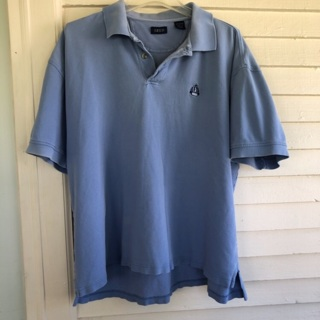 IZOD men's short sleeve blue polo shirt top