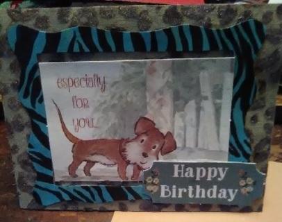 """ Woof Birthday "" Design Blank Card with Envelope"