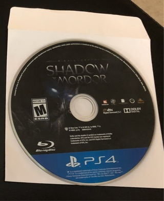 shadow  of Mordor ps4 free shipping