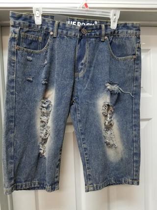 NWOT! TRUER ROCK Blue Denim Shorts-Size 34