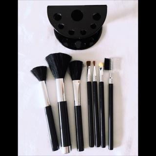 7pc Black Brush Set