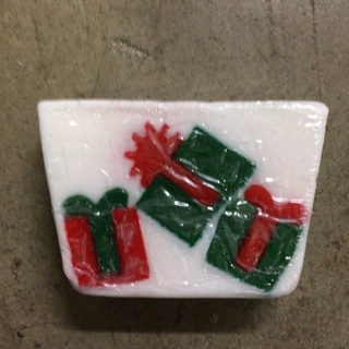 "Christmas ""Gift Wrap"" Decorative Soap Bar"