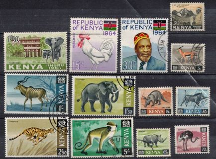 Kenya Stamps from 1960s