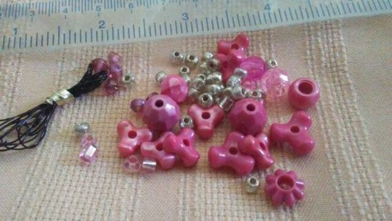 Beads Destash Pink