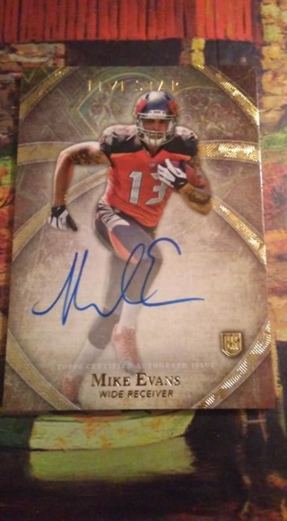 15 Card NFL Card Lot - Autographs  - Jersey - Numbered Card - Mike Evans Rookie/Auto + Others