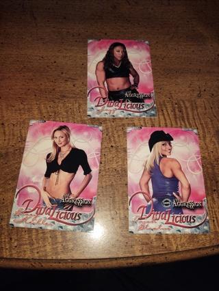 Three Card Lot WWE wrestling divas, Trish Stratus, Stacy keibler and jazz