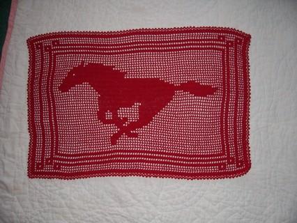 Free Mustang Filet Crochet Horse Pattern Only Crochet Listia
