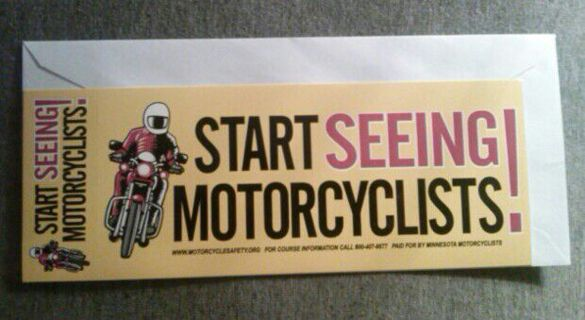 Free Motorcycle Awareness Bumper Stickers Accessories Listia - Custom motorcycle bumper stickers awareness