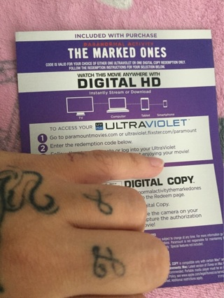Paranormal activity The marked ones digital code