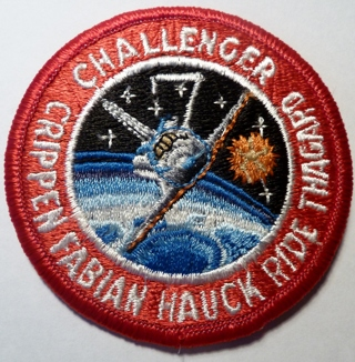 Free: NASA CHALLENGER STS-7 SPACE SHUTTLE PATCH CRIPPEN ...