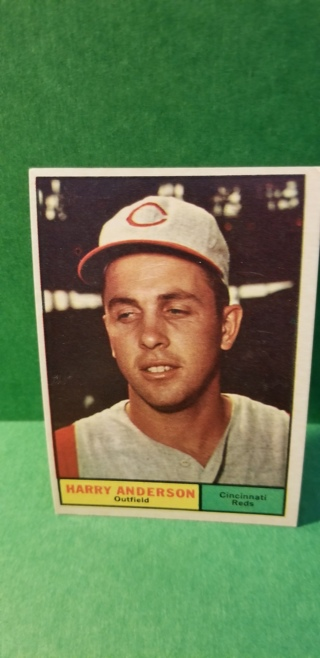 1961 - TOPPS EXMT - NRMT BASEBALL - CARD NO. 76 - HARRY ANDERSON - REDS