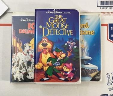 Disney VHS Movies WALT DISNEY DIAMOND CLASSIC COLLECTION Mouse Detective 101 Dalmations Sword Stone
