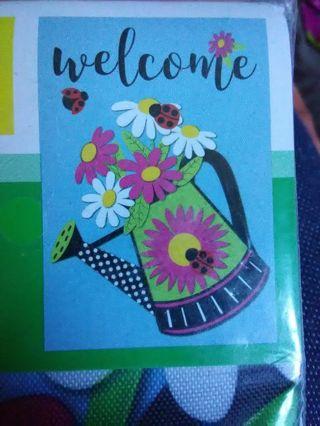 """BN Small """"Welcome"""" Garden Flag"""