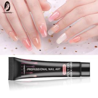Ladymisty 15ml Soak off Poly Gel UV Acryl Gel Quick Building Finger Extension Nail Gel Camouflage