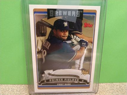 2006 TOPPS PRINCE FIELDER ROOKIE RC # 639 MILWAUKEE BREWERS
