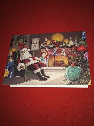 Christmas Cards - Snoozing Santa