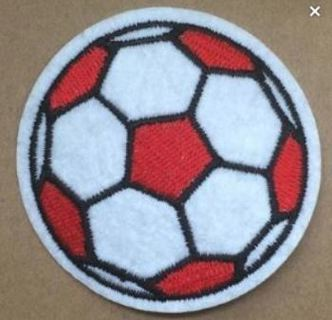 NEW Soccer Ball Sports Patch IRON ON Adhesive Application Accessory