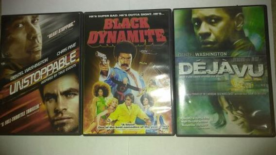 (Pick two of) Three Movie DVDs