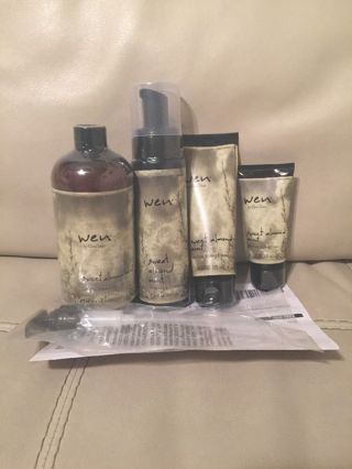 WEN by Chaz Dean Sweet Almond Mint Conditioning Cleansing Kit New
