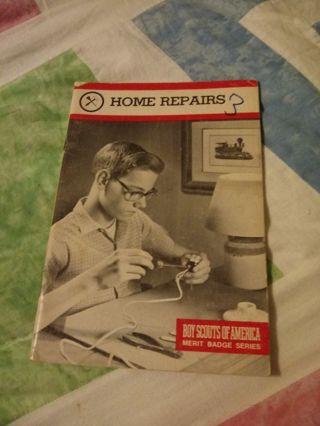 Boy Scouts of America Merit Badge Series Book Home Repairs