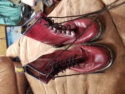 Size 6 Red Genuine Doc. Martin's ( Limited Edition)