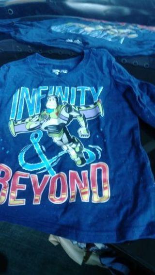 Buzz LightYear Blue Long Sleeve T-shirt- Boys size 5