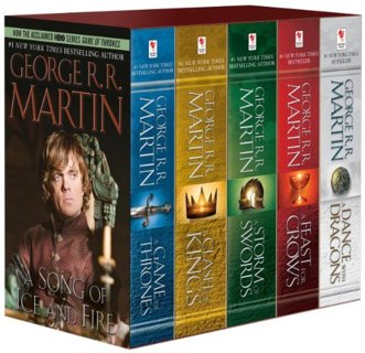All 5 Game of Thrones Books: A Clash of Kings/A Storm of Swords/A Feast of Crows/A Dance w/ Dragons