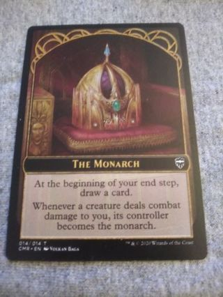 MAGIC THE GATHERING CARD: THE MONARCH TOKEN