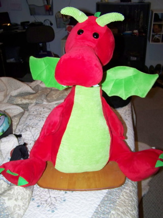 """a animal adventure dragon 26"""" tall and cuddly"""